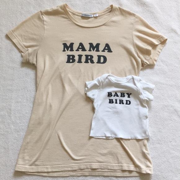 Mama Bird t-shirt fitted short sleeve womens